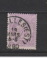 COB 52 Oblitération Centrale BRUXELLES (Est) - 1884-1891 Léopold II