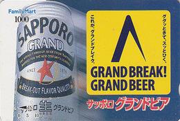 Carte Prépayée Japon - BIERE SAPPORO - BEER  Japan Prepaid Card ** FAMILY MART ** - BIER Karte - 805 - Lebensmittel