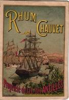 1 Carte Pliante RHUM Chauvet Cie Des Antilles - Rhum