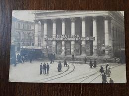 """L23/7 -DIJON-Le Théâtre-1er Mai 1906-Manifestation.""""Nous Voulons La JOURNEE DE 8 HEURES"""" - Dijon"""