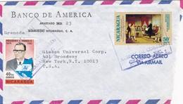1980'S NICARAGUA COMMERCIAL COVER-BANCO DE AMERICA. CIRCULEE TO USA- BLEUP - Nicaragua