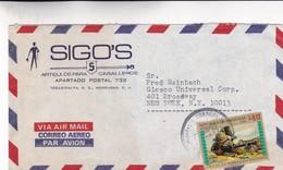 1970'S HONDURAS COMMERCIAL COVER-SIGO'S ARTICULOS PARA CABALLEROS. CIRCULEE TO USA- BLEUP - Honduras