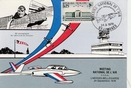 Limoges 1978 - Meeting National Armée De L'air - Avion Alpha-jet - Airplane Flugzeug - Poststempel (Briefe)