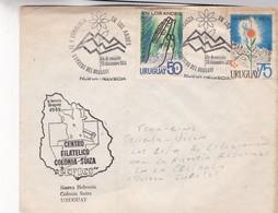 1973 URUGUAY FDC-FE Y ESPERANZA EN LOS ANDES, CENTRO FILATELICO COLONIA SUIZA- BLEUP - Uruguay