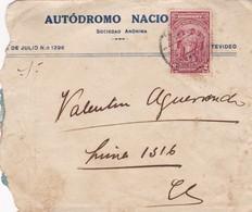 1920'S URUGUAY COMMERCIAL COVER-AUTODROMO NACIO SA. CIRCULEE- BLEUP - Uruguay