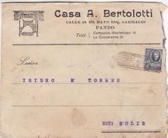 1920'S URUGUAY COMMERCIAL COVER-CASA A.BERTOLOTTI. CIRCULEE- BLEUP - Uruguay