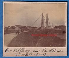 Photo Ancienne - ALLEREY - Passage D'une Automobile Sur Le Pont - 2 Juillet 1907 - Auto Histoire Patrimoine - Cars
