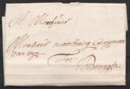 L. Datée 13 Mars 1722 De LICHTERVELDE Pour BRUGGHE (Brugge) - 1714-1794 (Paises Bajos Austriacos)