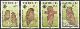 1985 Seychelles Audubon Birth Bicentenary: Bare-legged Scops Owl Set (** / MNH / UMM) - Búhos, Lechuza