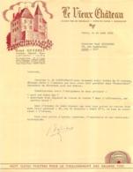 DOCUMENT COMMERCIAL LE VIEUX CHATEAU RENE GUYENET A LAVIGNY JURA - 1950 - ...