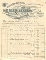 FACTURE 1902 MEHIER FERNAND COMPTOIR METALLURGIQUE DE LA LOIRE A SAINT ETIENNE - France