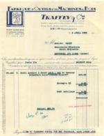 DOCUMENT COMMERCIAL  1938 TRAFFEY ET CIE FABRIQUE D'OUTILS POUR MACHINES A BOIS A LYON RUE JEAN NOVEL - 1900 – 1949