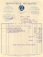 FACTURE 1931 ELO REVETEMENTS DECORATIFS 9 RUE CHAPTAL A PARIS - France