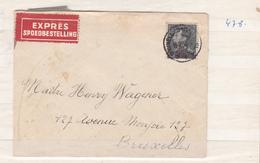Belgique  Poortman   Envlp Recommandé   1940   Timbre N 478     2 Scan - 1936-1951 Poortman