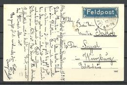 Germany DEUTSCHLAND 1917 WW I Feldpost Field Post Label Blue Blaue Zettel - Allemagne