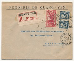 INDOCHINE - Lot De 10 Lettres Diverses 1932 à 1940, Recommandée, Avions, Aérogrammes... - Lettres & Documents