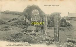 29 Plovan, Vue Des Ruines De Languido, Homme Près D'un Pilier, Vaches..., Carte Pas Courante, 1906 - Autres Communes