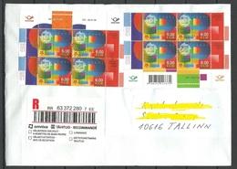 ESTLAND Estonia 2019 Inlandbrief Domestic Registered Letter Europa CEPT 2006 As Blocks - Estonia