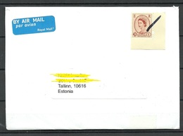 GREAT BRITAIN 2019 Air Mail Cover To Estonia Stamp Cancelled By Hand - 1952-.... (Elizabeth II)