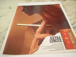 ANCIENNE PUBLICITE EXTRA LONGUE  CIGARETTES ROYALE   1968 - Tabac (objets Liés)