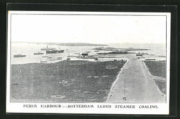 AK Perim Harbour, Rotterdam Lloyd Streamer Coaling - Yémen