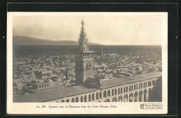 AK Damascus, General View From The Great Mosque - Syrien
