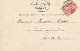 615/29 -- Carte-Vue HUY TP 74 Grosse Barbe BAS-OHA 1905 Vers Fort De LONCIN Par ANS - COBA T1 L - 1905 Thick Beard