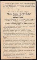 Santvliet, Zandvliet, Rijkevorsel, 1930, Maria Henderickx, Ooms - Images Religieuses