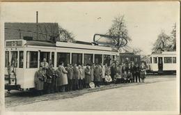 SCHEUT - DILBEEK   TRAM 10216  : ( 14 X 9  Cm)   ( Foto Van Oude Cliché - Photo Vieux Cliché  ) 1962 AMUTRA - Trains