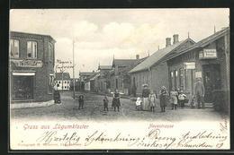 AK Lügumkloster, Neuestrasse Mit Geschäften - Denemarken