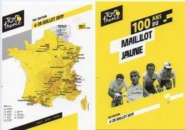CYCLISME   Tour De France   DOCAPOST  2 CARTES  Dont 100 Ans Du Maillot Jaune MERCKX ANQUETIL HINAULT INDURAIN - Cycling