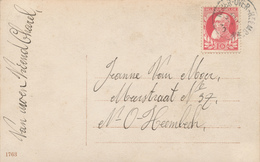625/29 -- Carte Fantaisie TP 74 Grosse Barbe NEDER OVER HEEMBEEK 1910 - COBA T1 L - 1905 Thick Beard