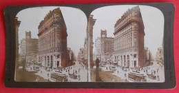 Photos Stéréo 1903 San Francisco Market And Post Streets éditeur White CO USA N°601 - Stereoscopic