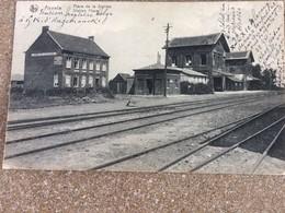 Postkaart 20/081917  Abeele Station , La Gare D'Abeele Poperinghe + Hotel De La Station - Poperinge