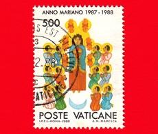 VATICANO - Usato - 1988 - Anno Mariano 1987-88 - 500 L. • Pentecoste - Vatican