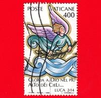 VATICANO - Usato - 1988 - Usato - Natale - 400 L. • Angelo Con Ramo D'ulivo - Vatican