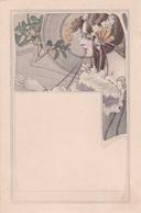 Liberty  -  Fanciulla Con Acconciatura Di Fiori Bianchi  -  Edit. M. M. VIENNE  ,  No. 127 - Illustratori & Fotografie