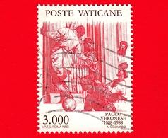 VATICANO - Usato - 1988 - 4º Centenario Della Morte Di Paolo Caliari, Detto Il Veronese - 3000  L. • Nozze Di Cana - Vatican