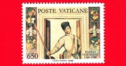 VATICANO - Usato - 1988 - 4º Centenario Della Morte Di Paolo Caliari, Detto Il Veronese - 650 L. • Autoritratto - Vatican