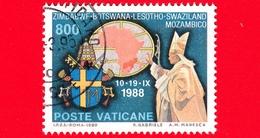 VATICANO - Usato - 1989 -  Viaggi Di Giovanni Paolo II Nel 1988 - 800 L. • Sud Africa - Vatican