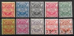 REUNION : SERIE TAXE N° 6/15 NEUVE * GOMME AVEC CHARNIERE - TRES FRAIS - Reunion Island (1852-1975)
