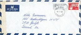 Denmark Air Mail Cover DANCON UNFICYP 10-1-1981 Single Franked EUROPA CEPT Stamp - Danemark