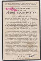 DOODSPRENTJE PATTYN DéSIRé ECHTGENOOT VANDE GINSTE STADEN BRUGGE (1862 - 1930) - Andachtsbilder
