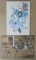 Maxi Cards 1998 Ancient Chinese Painting - KKuei Ghost Folk Tale Donkey Costume Wine - 1945-... Republic Of China