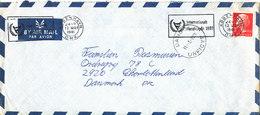 Denmark Air Mail Cover DANCON UNFICYP 11-3-1981 Single Franked - Danemark