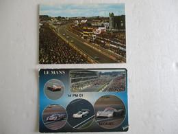 LOT 2 CPSM Cpa Postcard CP SARTHE 72 LE MANS CIRCUIT Auto DES 24 HEURES DU MANS V1970 Sport Automobile - Le Mans