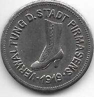 Notgeld Pirmasens 10 Pfennig 1919   Fe 426.10a/b - [ 2] 1871-1918 : Empire Allemand