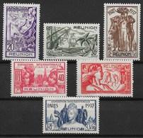 REUNION : SERIE EXPOSITION 1937 N° 149/154 NEUVE * GOMME AVEC CHARNIERE - TRES FRAIS - Reunion Island (1852-1975)