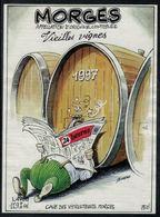Etiquette De Vin // Morges, Vieilles Vignes (dessin De Burki) - Fumetti