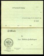"""Bayern / Postkarte Mit Antwortteil """"Koenigl. Bayer.-Kriegsministerium"""", Heeressache ** (20323) - Bavaria"""